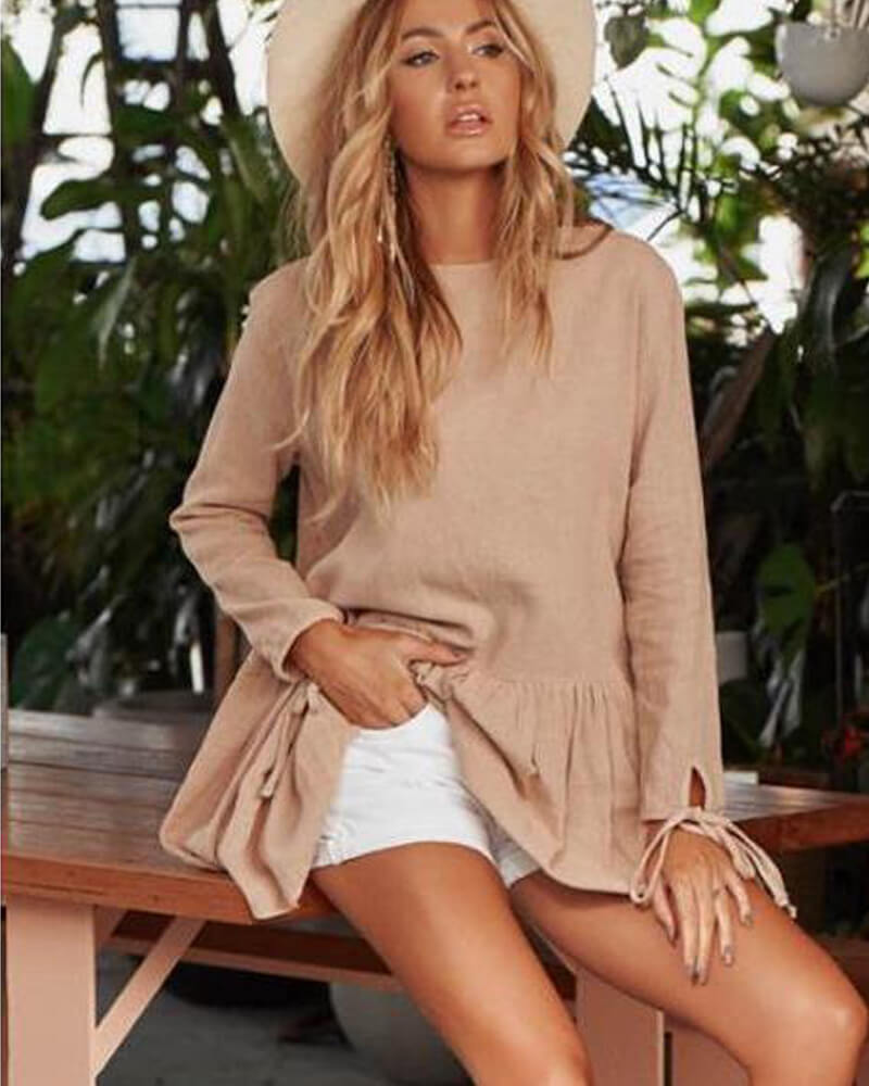 Pleated Skirt Mini Dress Blouse