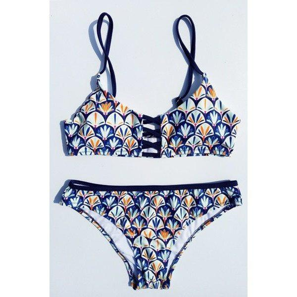 Fresh Print Ink Bikini Set