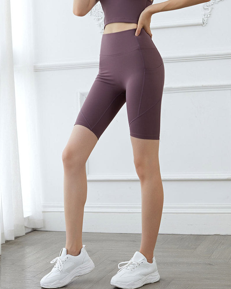 Mid-Length Yoga Pants With Pocket