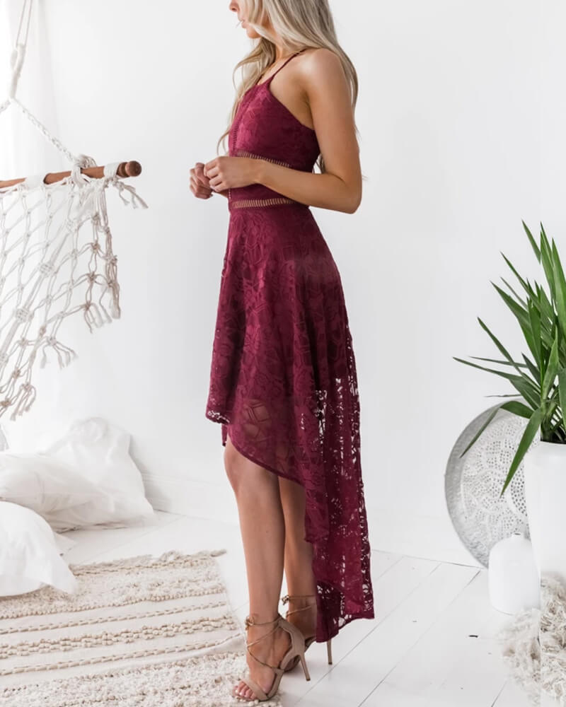 Spaghetti Strap Lace Dress