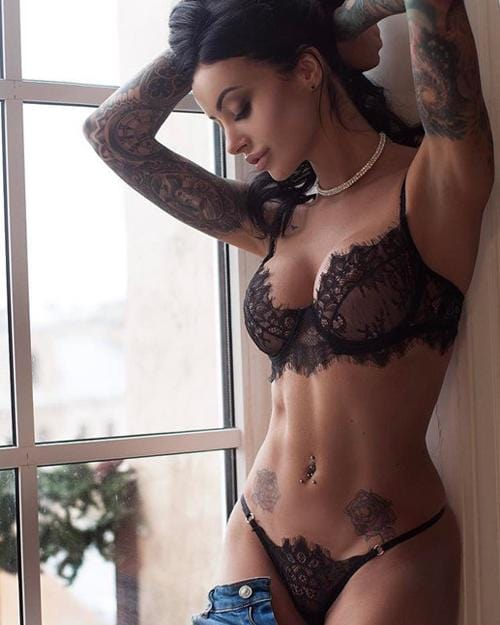 Black Lace Translucent Cutout Lingerie Set