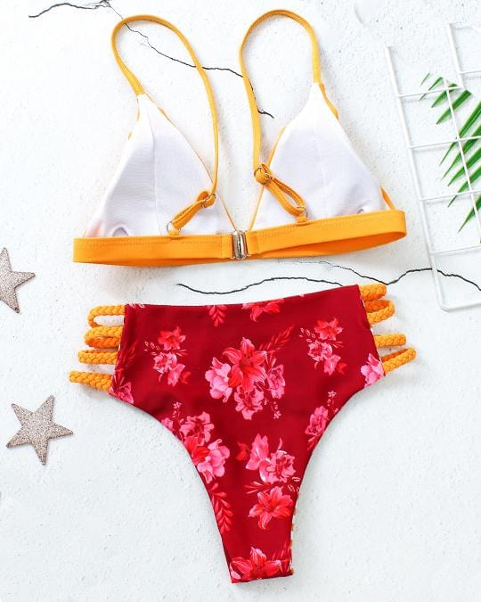 Colorful Reversible  Bikini Set