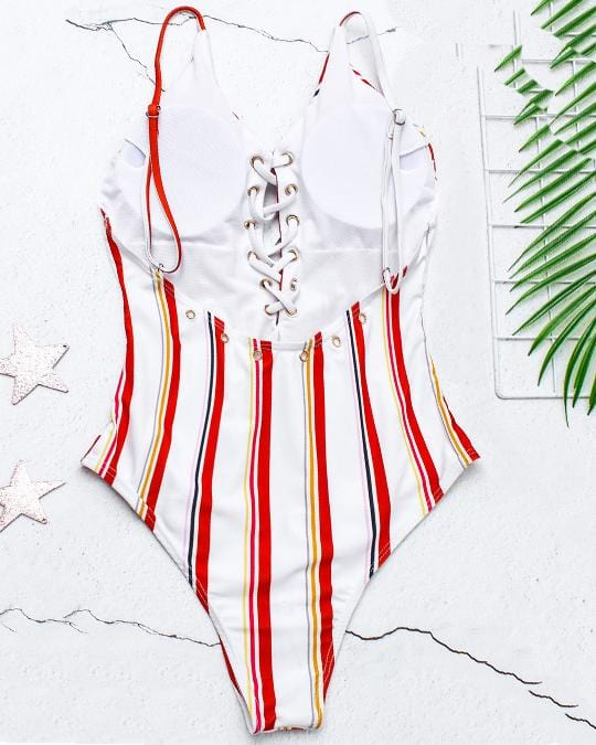 Heart Lines One-piece Swimsuit