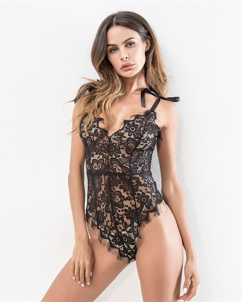 Perspective V-neck Lace Underwear