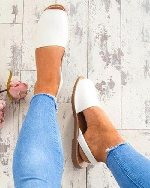 Open Toe Casual Flat Sandals