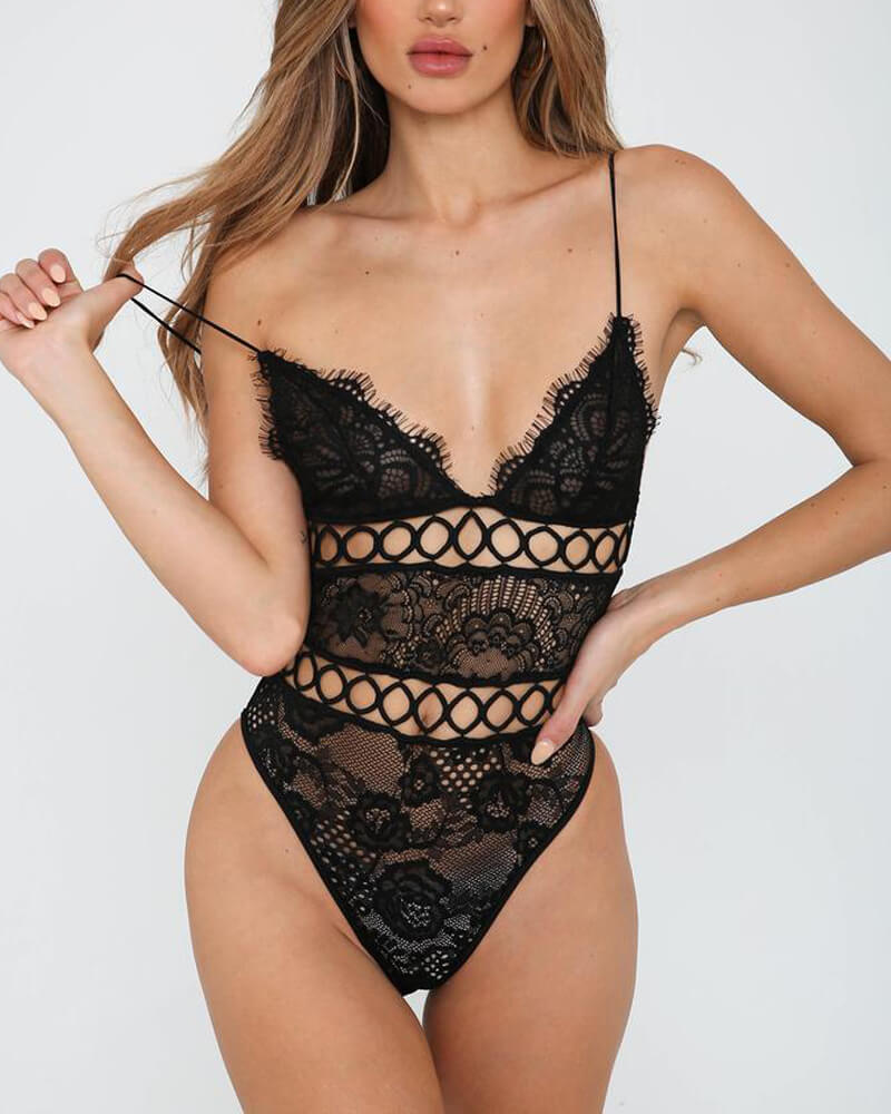 Teddy Lace One Piece Lingerie