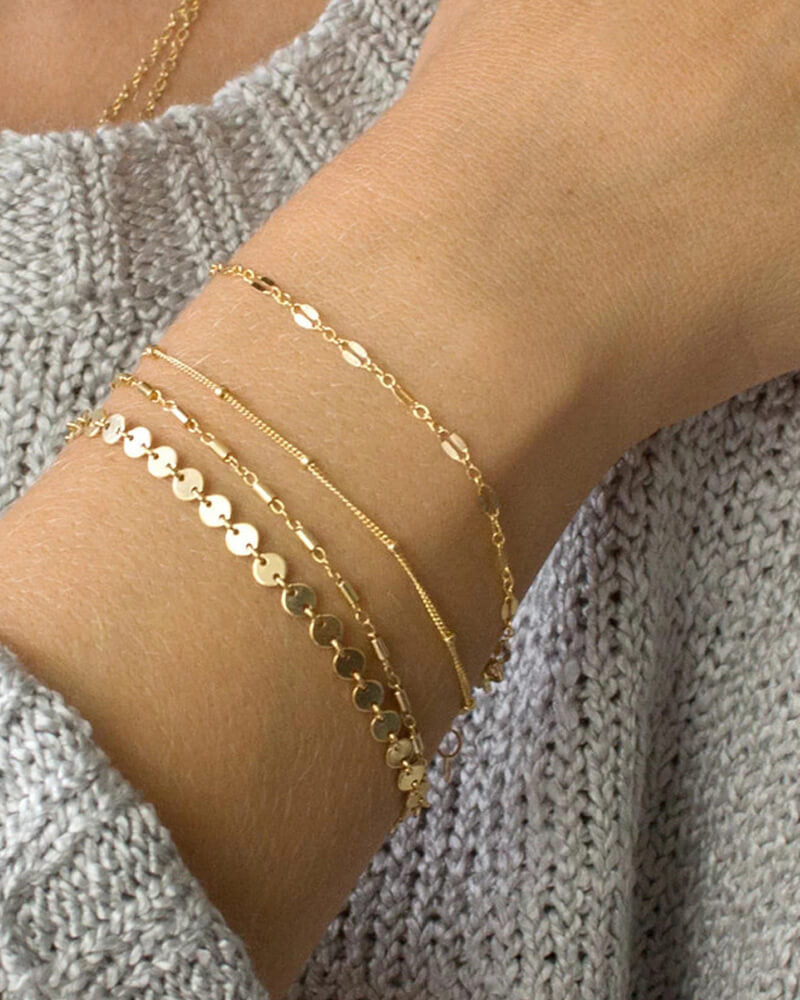 Golden Four Layers Hand Chain