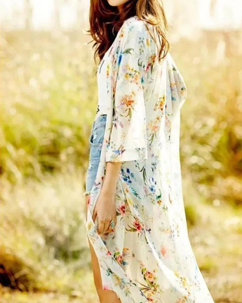 Bright Precious Floral Cover-up