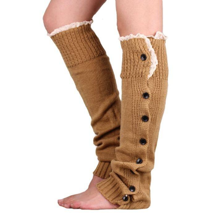 Lace Trim Boot Cuffs Toppers Leg Warmers Sock