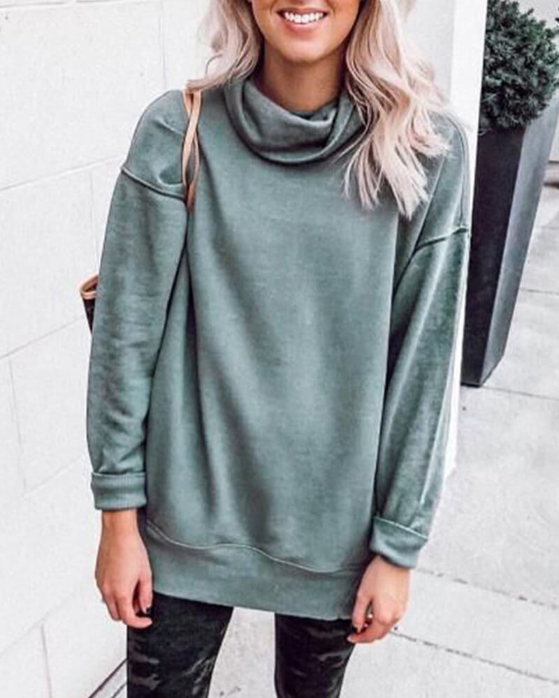 Casual Turtleneck Long sleeve Sweatershit