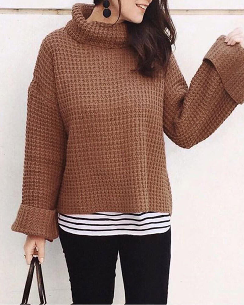 Leopard Print Casual Style Sweater