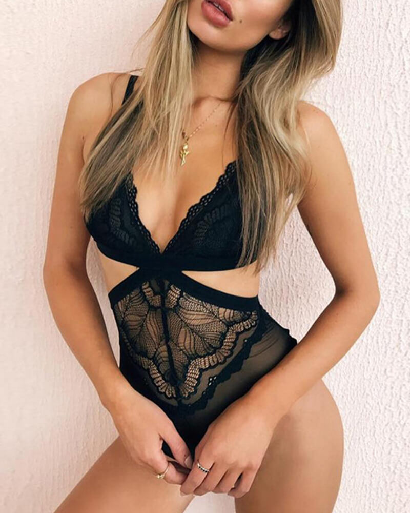 Dim The Lights Lace Bodysuit