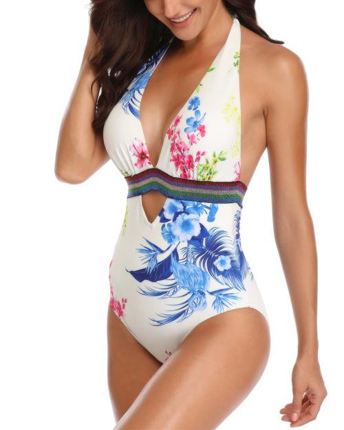 White Lover One-Piece Swimsuit