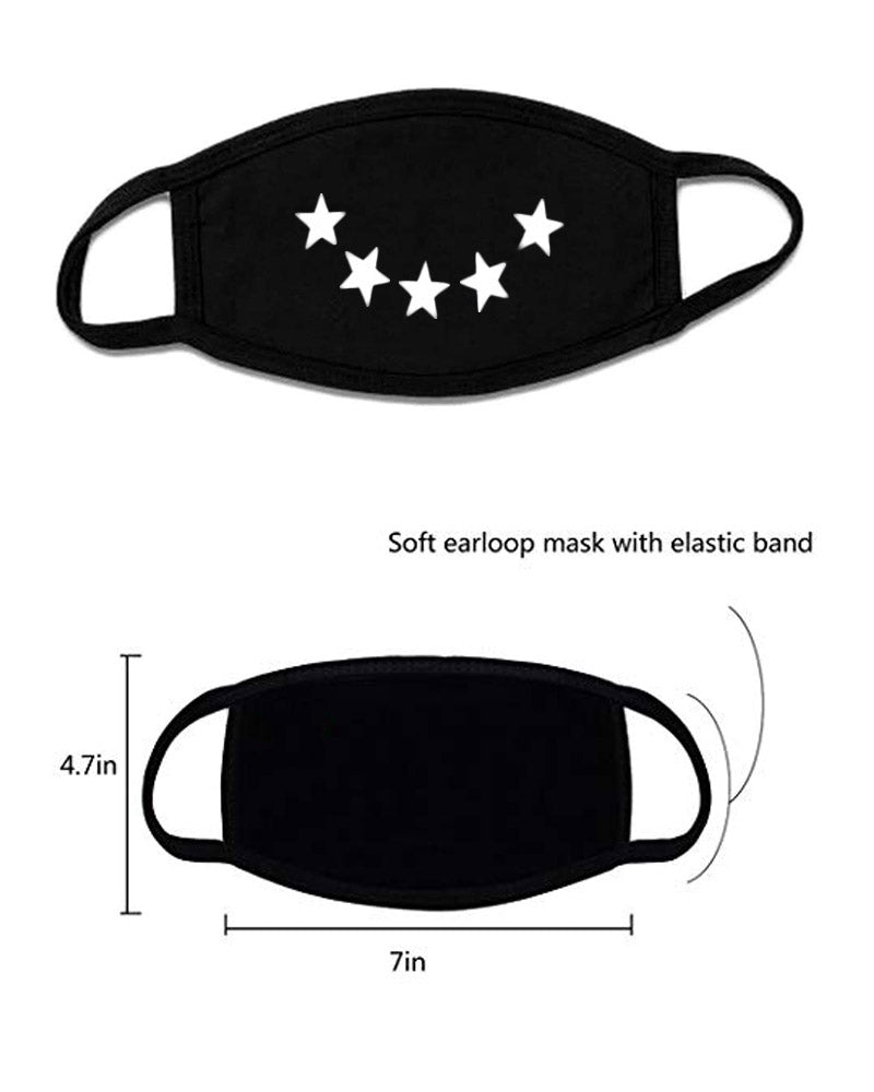 5 PCS Unisex Cute Anti Dust Mask