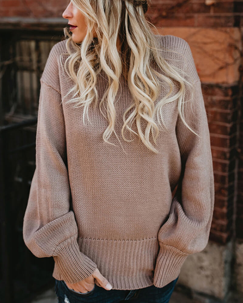 Halterneck Bow-Tie Knit Sweater