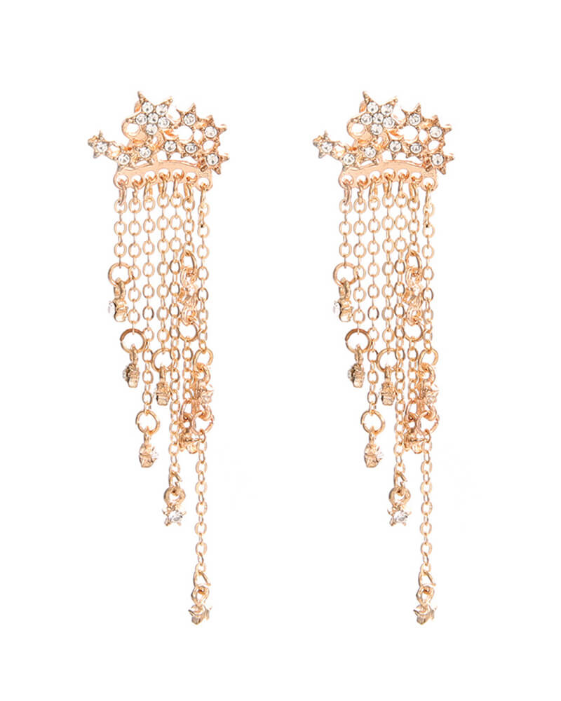 Shining Stars Tassels Earrings