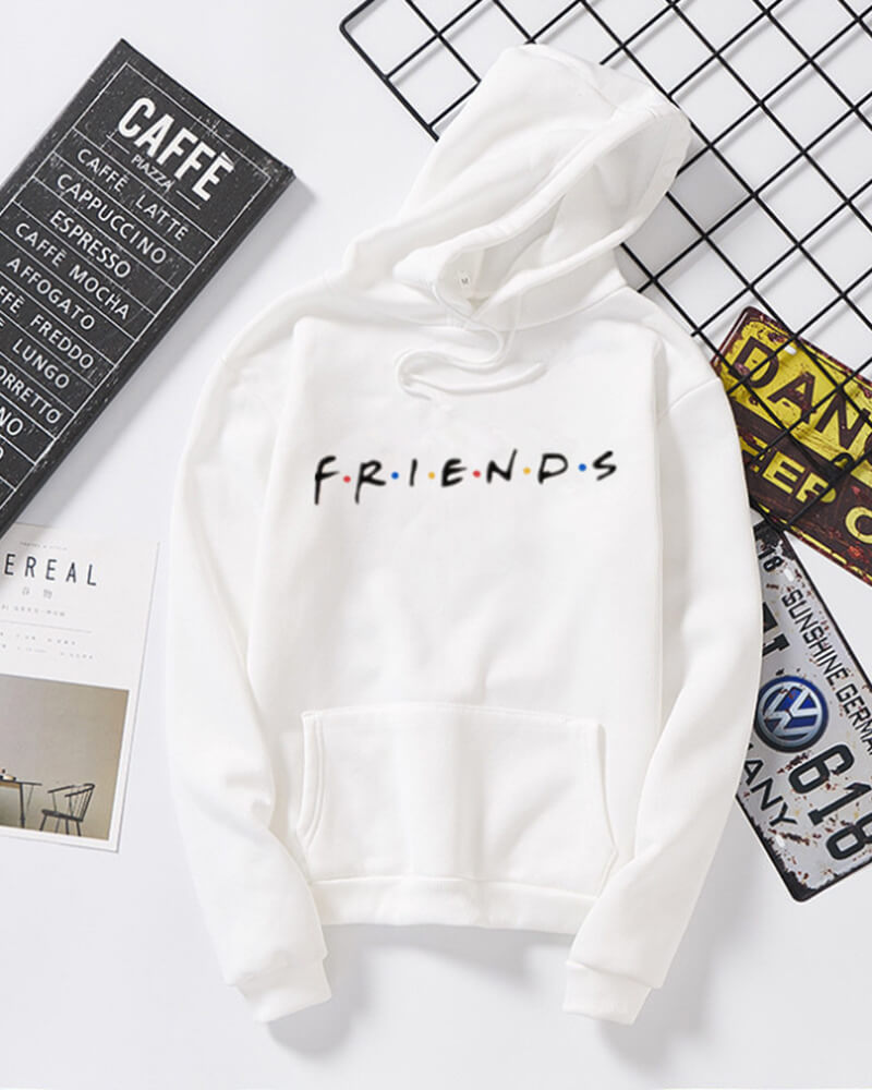 Friends Long Sleeve Hoodie Sweatshirt
