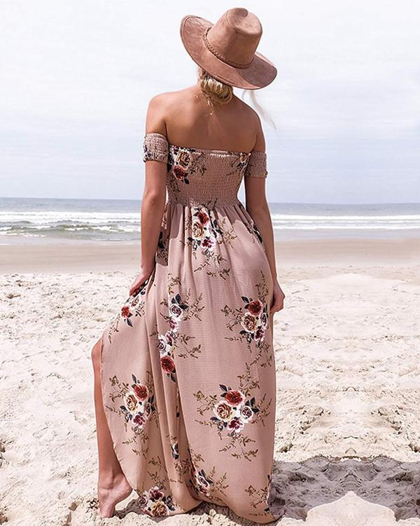 Sway With Wind Strapless Sunflower Dress