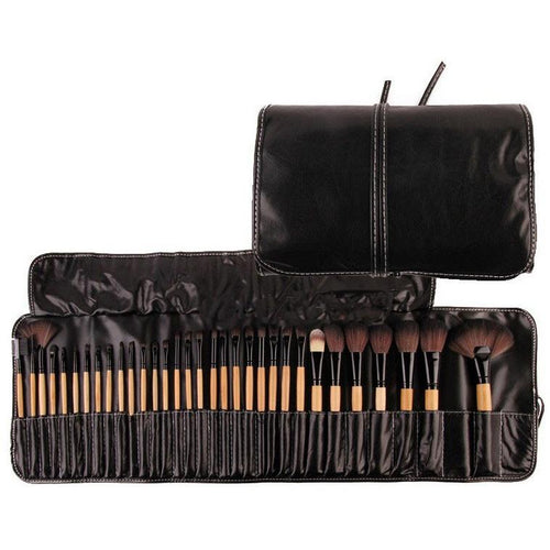 Oshlen Soft Cosmetic Makeup Brush Set Pouch Bag
