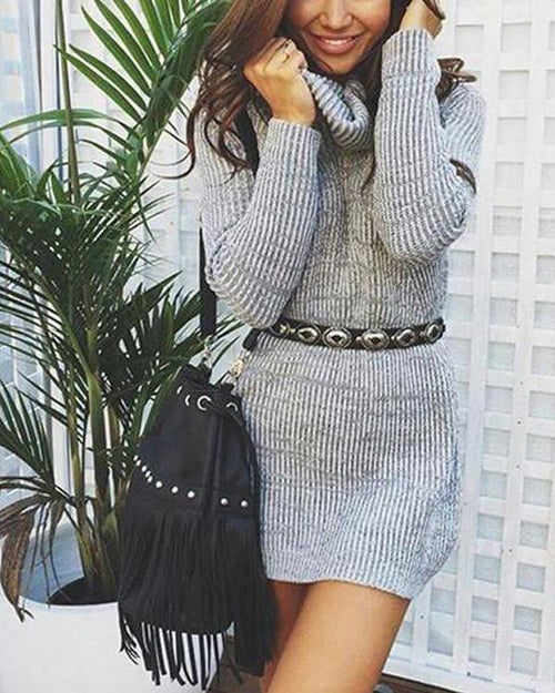 Popular Ribbed Turtleneck Casual Sweater 942f48338