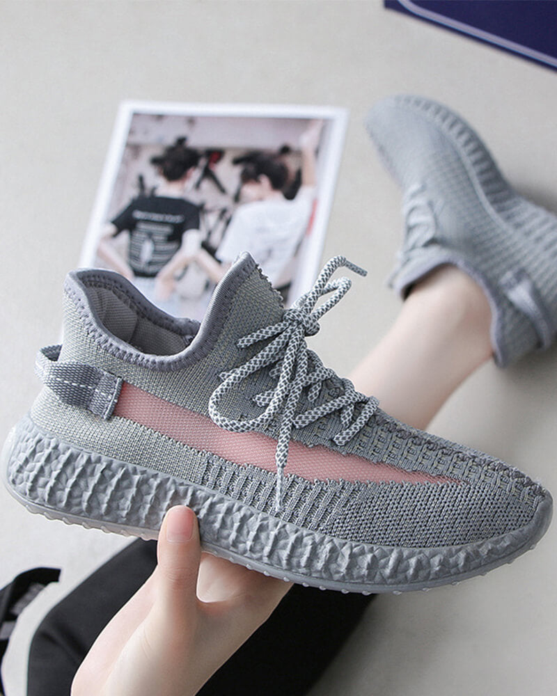 Women Athletic Reflective Running Casual Shoes