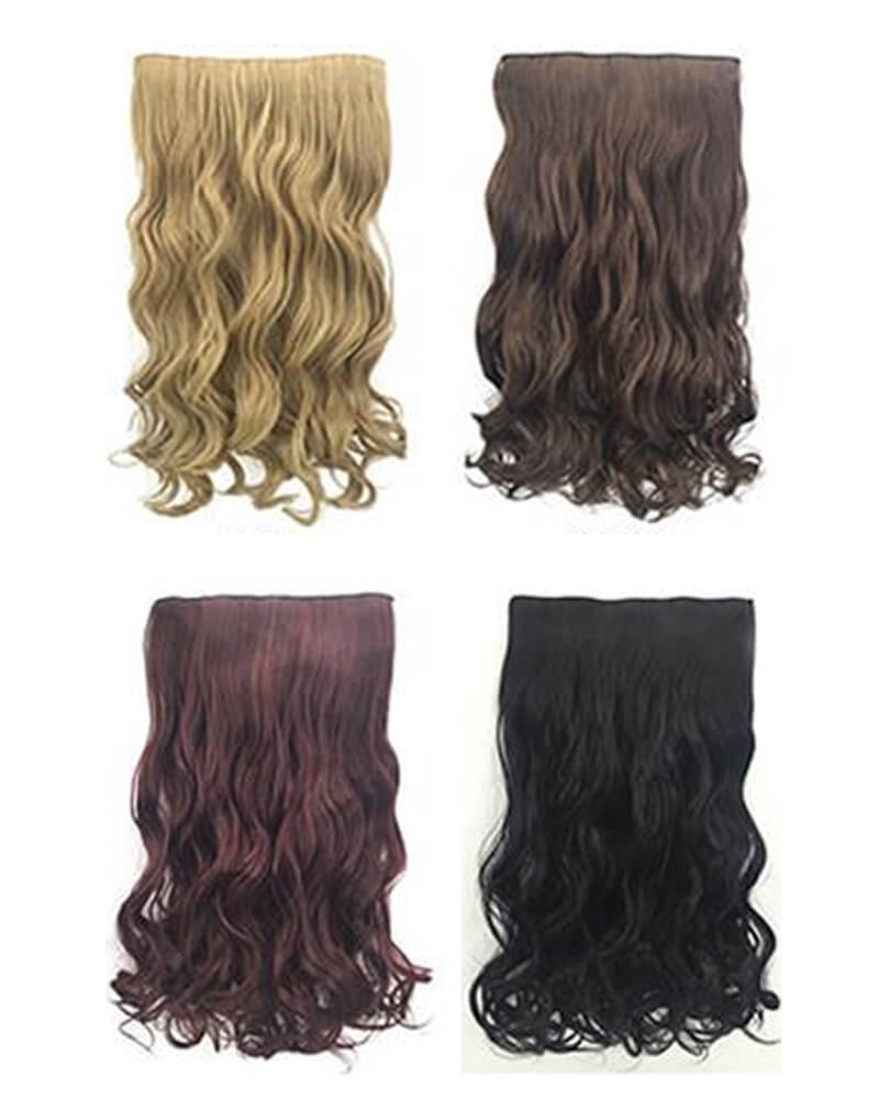 Long Curly Hair Clip Synthetic Wig