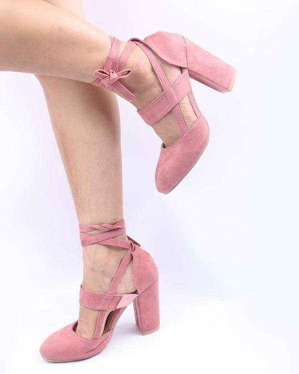 Bandage High-heeled Shoes
