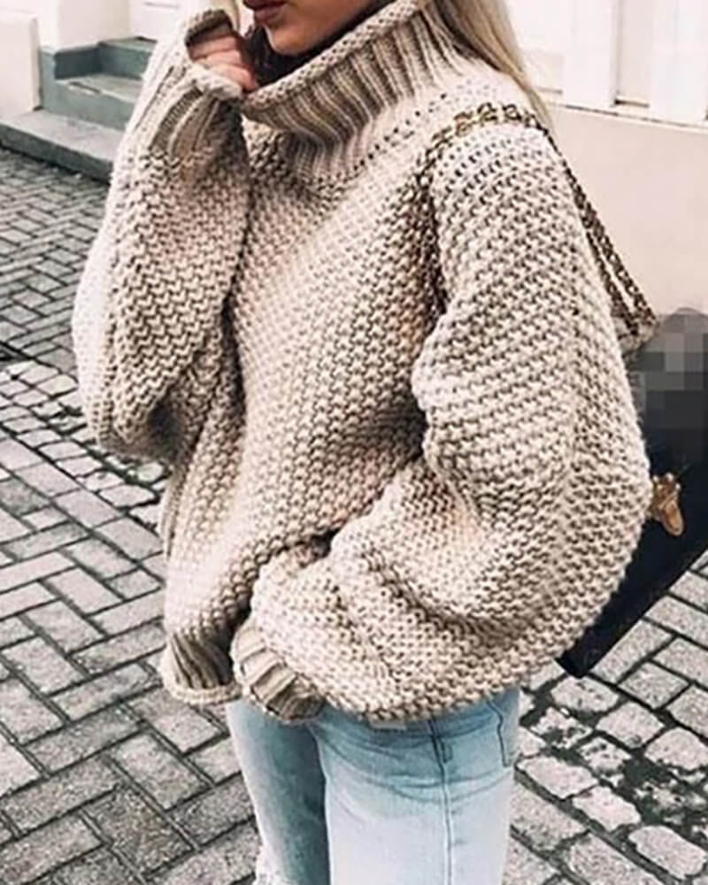 Turtleneck Loose Knitted Sweater