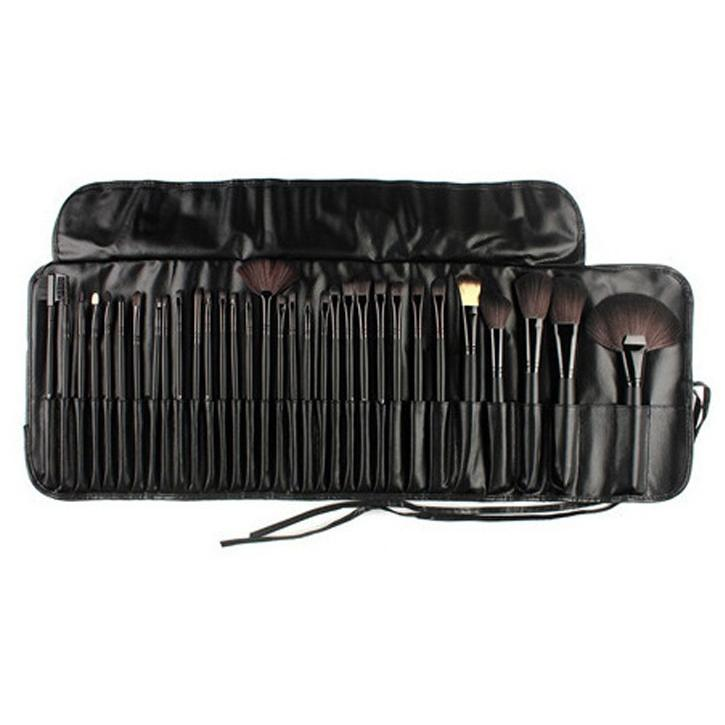 Soft Cosmetic Makeup Brush Set Pouch Bag