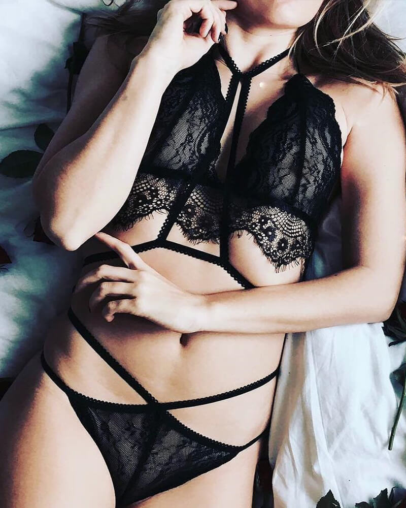 Lace See-through Lingerie Set