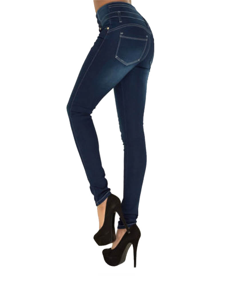 Skinny Denim Stretch Slim Fit High Waist Jeans