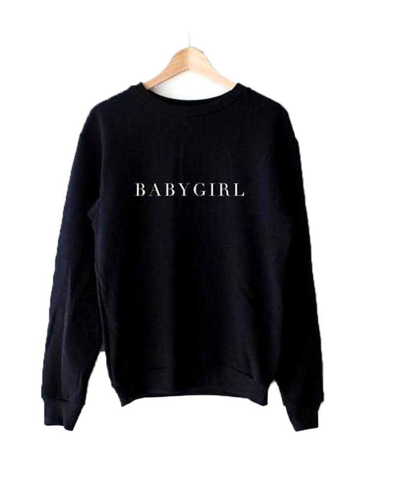 Babygirl Black Long Sleeve Sweatshirt