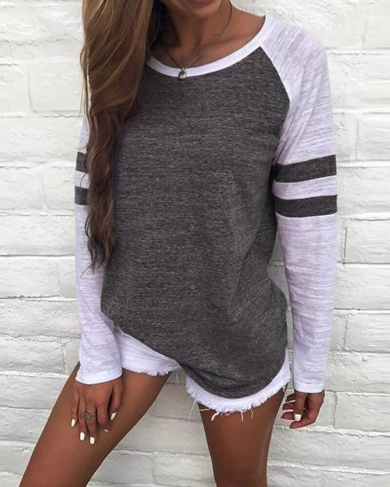 Glam Color Long Sleeve T Shirt