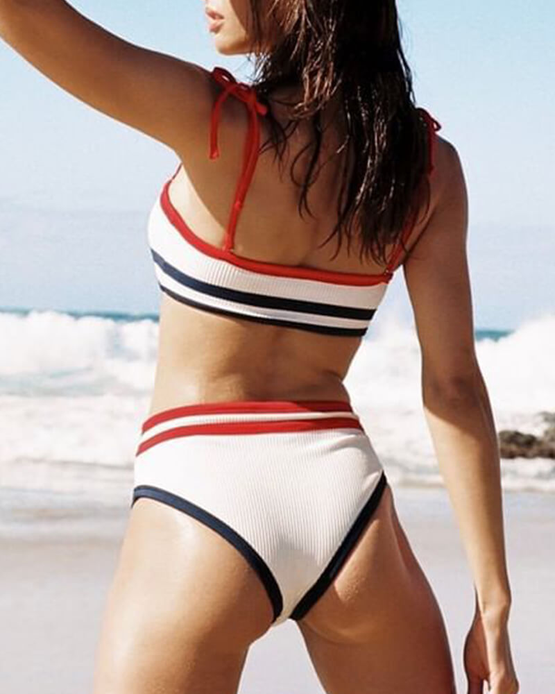 Sailor Striped Bikini Set