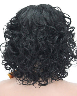 Black Short Kinky Curly Synthetic Wig