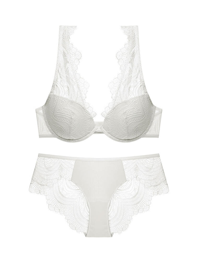 Light Cups Lace Lingerie Set