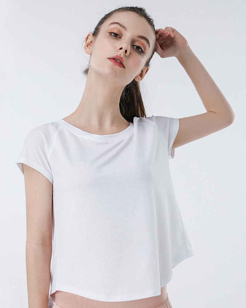 Open Back Casual T-Shirt Top