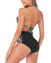 Halter High Waisted Push Up Swimsuits