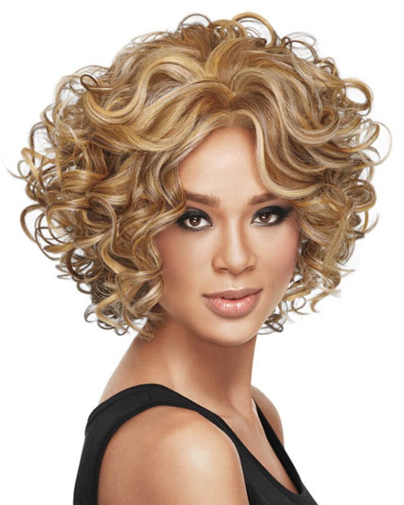 Curls Lace Medium Synthetic Wig