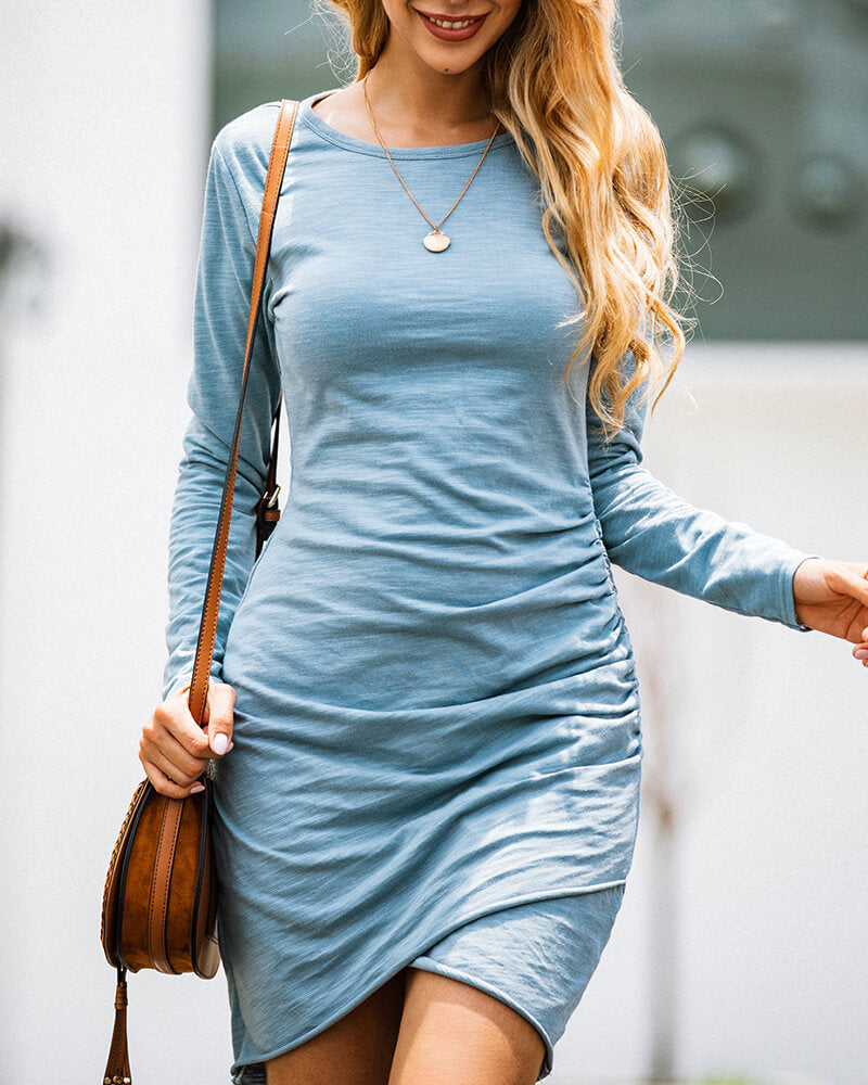 Irregular Packet Hip Dress