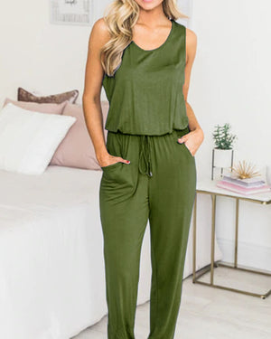 Five Color Sleeveless Romper