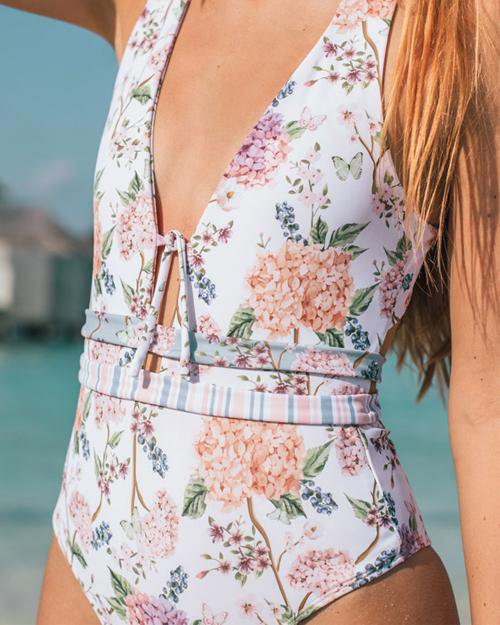 Gorgeous Floral One-Piece Swimsuit