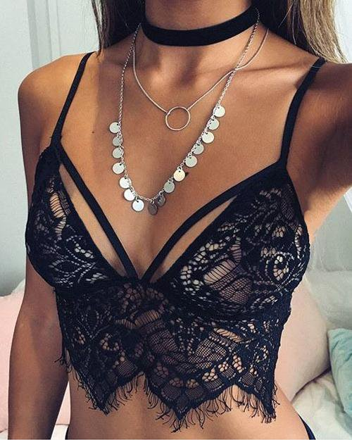 Pretty Black Lace Bra