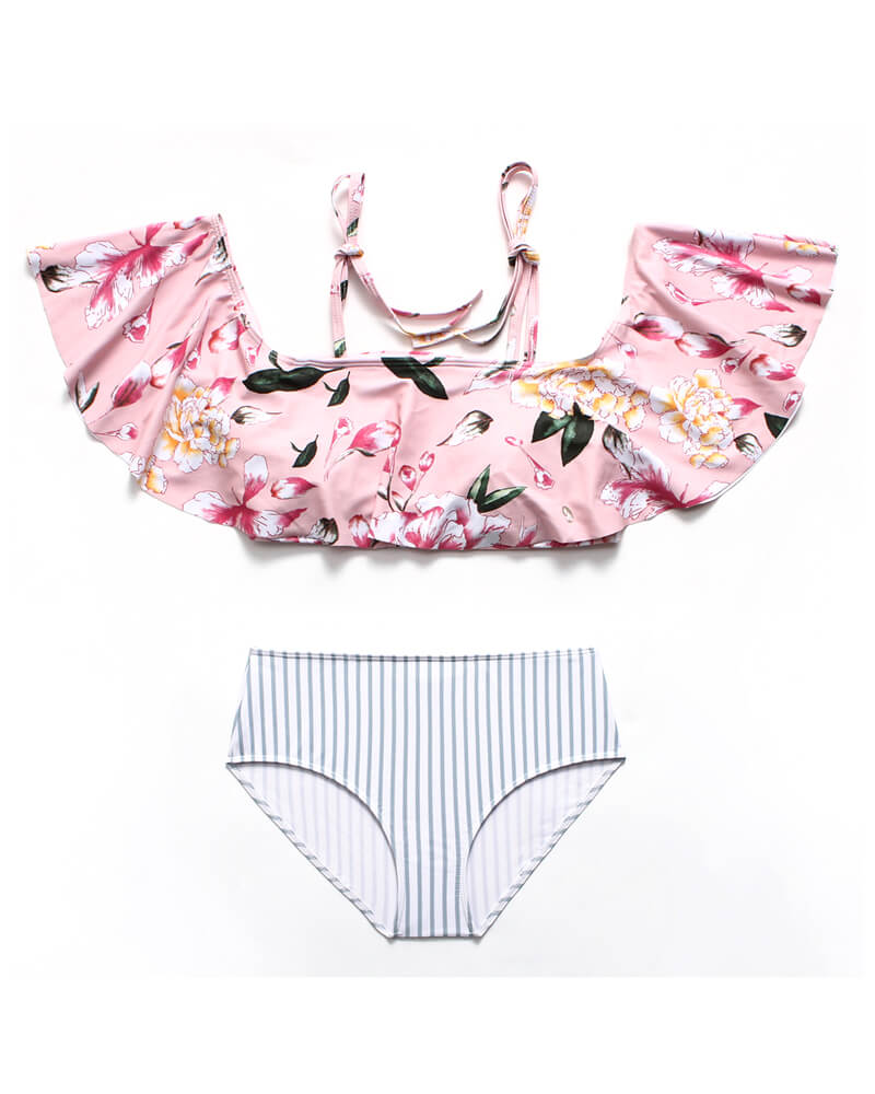 Ruffles under the bust Matching Bikini