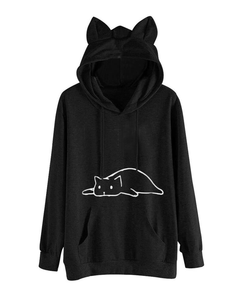 Sweet Cat Hooded Sweatshirt