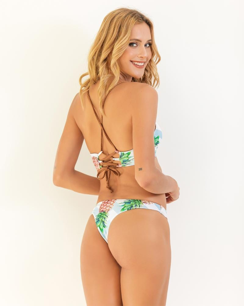 Pineapple Fresh Print Bikini Set