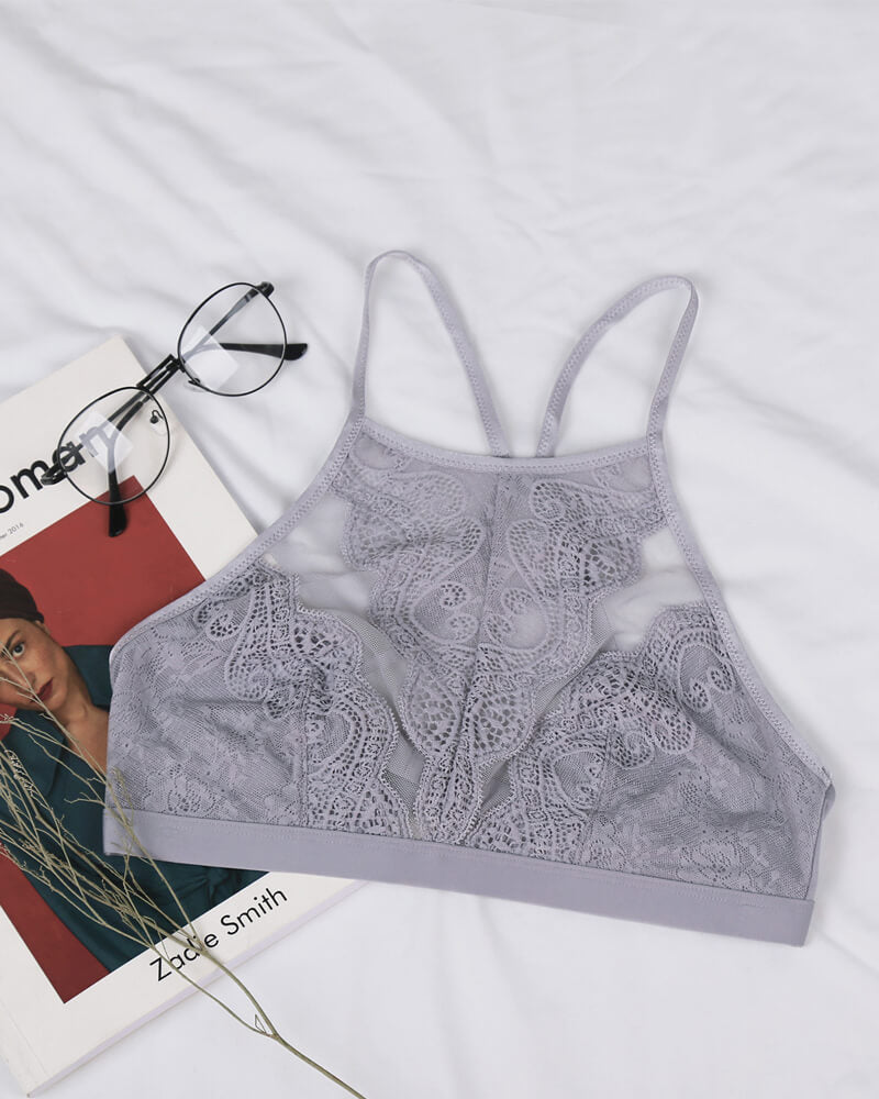 Lacy High Neck Bralette