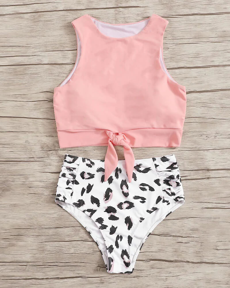 Tank Top High-Waisted Bikini Set