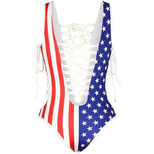 National Pride Pattern One-piece Swimwear