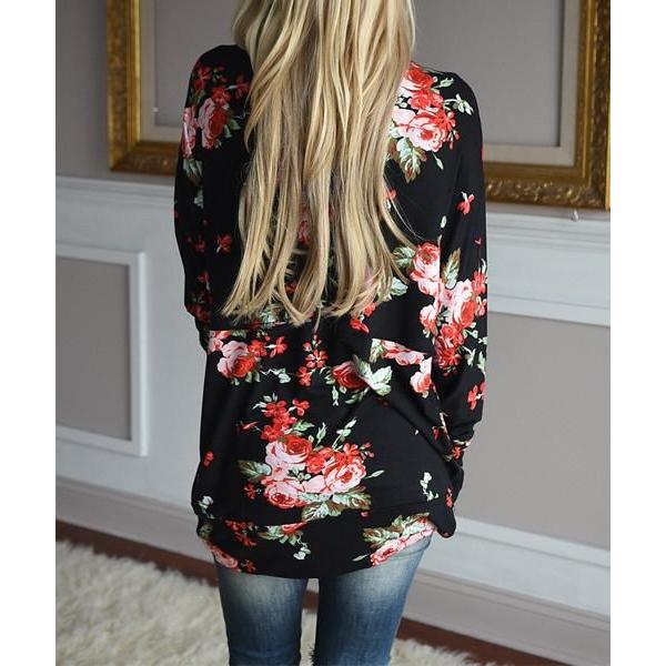 Print Long Sleeve Cardigan